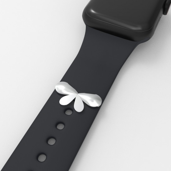 Watch Band Decorative Loop Rings Watch Band Charms Stud Accrssory Valentine's Day Gift Compatible For Apple Watch Band