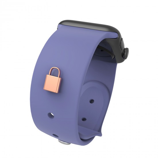 Lock Shape Stud Watch Band Charms For Fitbit Band Accessory Watch Straps Decorative Sport Silicone Band Charms 38mm 40mm 42mm 44mm