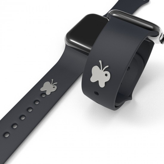 Watch Band Charms Stud Watch Straps Decorative Loop Rings For Silicone Sport Watch Band