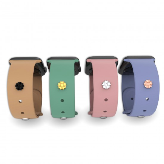For Apple Watch Band Charms Watch Straps Stud Smart Watch Band Decorative Birthday Gift Strap Decorative-Five Heart Shape