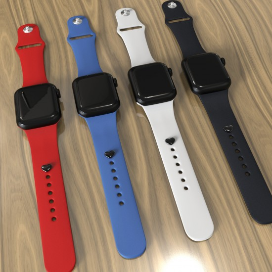 Watch Band Decorative Stud Starps Accrssory Birthday Gift For Silicone Smart Watch