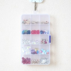 9 sizes Plastic Storage Jewelry Box Compartment Adjustable Container for Beads earring box for jewelry rectangle Box Case