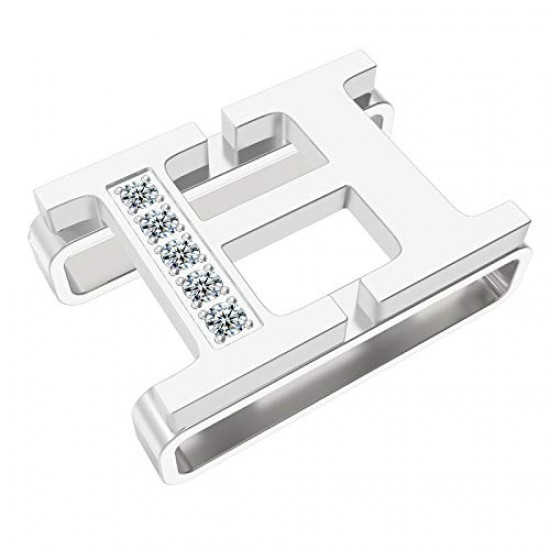 Callancity Alphabet Watch Band Charms Stainless Steel Decorative Ring Loops for 38mm 40mm 44mm 42mm (E)