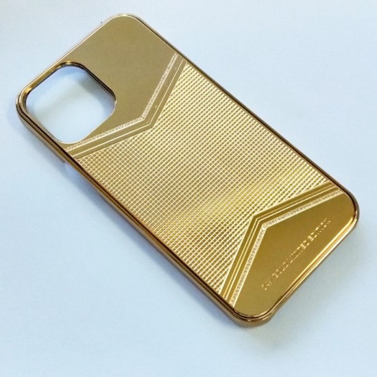 Callancity 24kt Gold Plated Phone Protective Cover Compatible For IPhone 13 series Customized Design Phone Protective Case