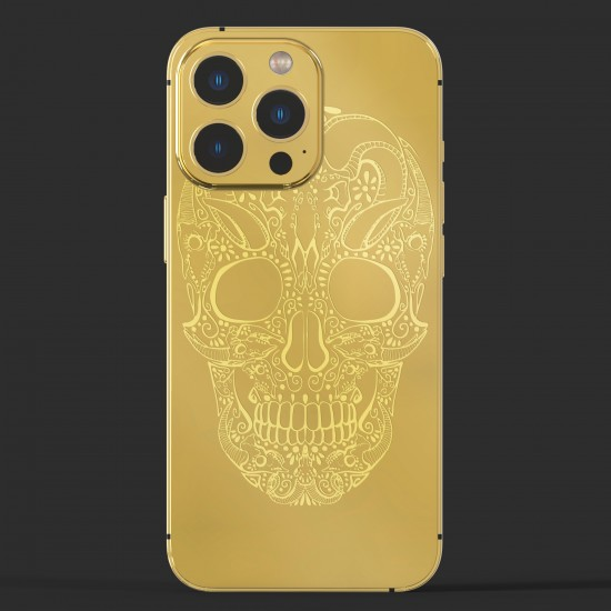 Callancity Custom Design 24kt Gold Plated Luxury Repalcement Housing for Iphone 13Mini/13/13Pro/13proMax Cell Phone Case Cover