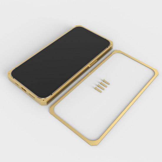 Callancity Custom Design Logo 24kt Gold Plated Phone Case Protective Cover Compatible For iphone 13mini/13/13pro/13promax