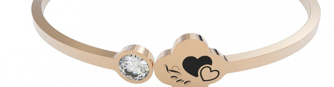 Callancity New Product Range-Bling Heart Bracelet,Christmas Gift Choice