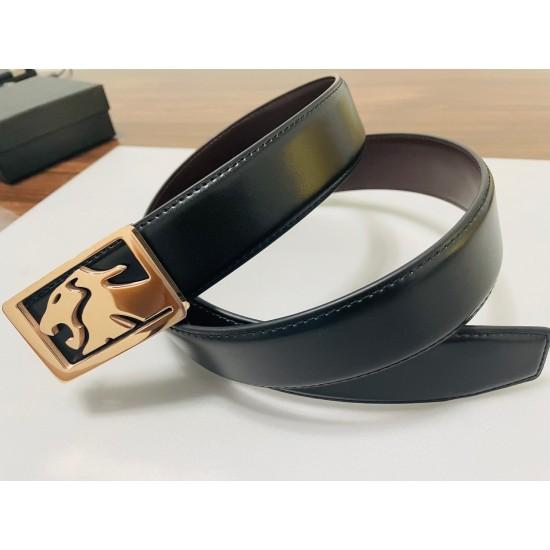 Callancity hot Sale Luxury Leather Belt for Men Business Metal Buckle Belts