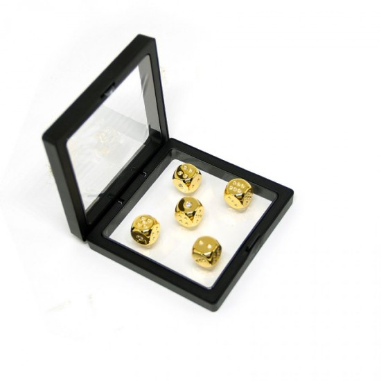 Callancity Luxury 24kt Gold Plated With Diamonds 5 pcs Six-sided Dice