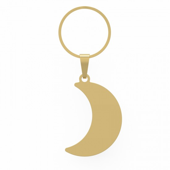 CallanCity Crescent Moon Shape Customized Address Dog ID Tag Engraving Personalized Dog Collar Pet Cat And Dog Name Tag ID Collar