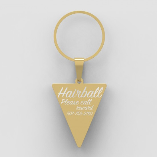 Callancity Triangle Shape New Style Pet Cat Dog ID Tag Custom Engraving Personalized Dog Collar Pet Charm Name Pendant Necklace Puppy Accessories