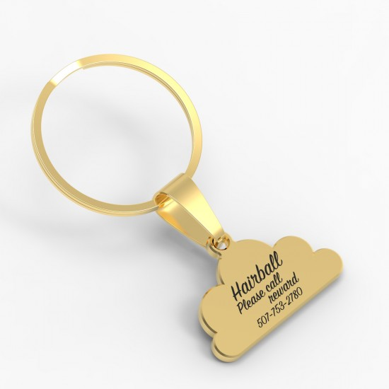 CallanCity Cloud shape Personalized Custom Dog ID Tag Engraving Pet Dog Tag Collar Accessories Puppy Cat Name Tag Dog Necklace Pendant