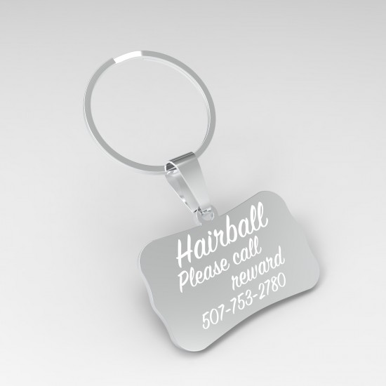 Callancity Rectangular Custom Dog Name Tags For Pet Accessories, Cute tags WIth Engraved Dog Names, Personalized Design Dog Tags, Pet ID Lettering Tags