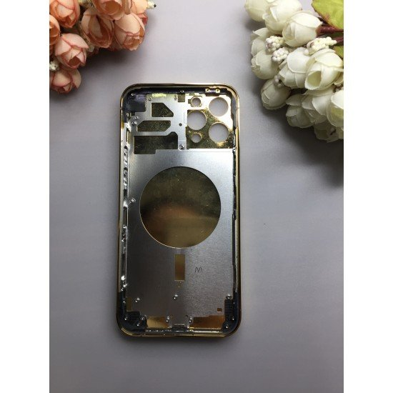 Callancity Cell Phone Replacement Housing With Diamonds Leather Compatible For Iphone 12/ 12 Pro Max