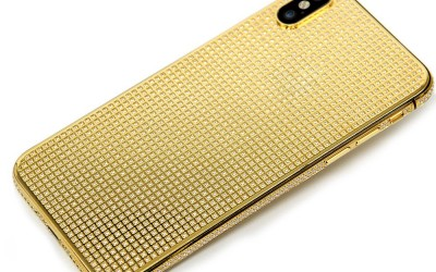 IPHONE X DIAMOND HOUSING 24KT GOLD PLATED WITH FULL DIAMOND