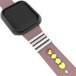 Stainless Steel Decorative Ring Charms For Apple Watch Series 6/SE/5/4/3 (Valentine's Day Gift)