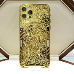 Cell Phone Replacement Housing 24k Gold Plated Customized Design for iPhone 12 Pro/iPhone 12 Pro Max