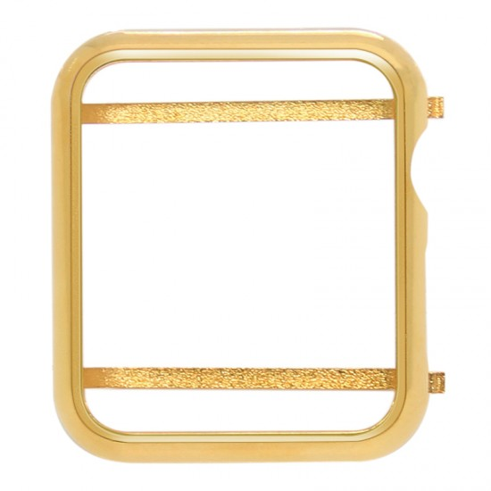 Bright Gold Plated Metal Frame Protective Case Compatible For Smart Watch Series 4/5 40mm 44mm (Gold,Rose gold,Silver,Black)