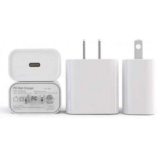 20W PD iPhone Charger,Callancity PD Wall Charger Fast Charging for iPhone 12/12Pro,Huawei Mate 40/40 Pro,Samsung Galaxy,AirPods Pro