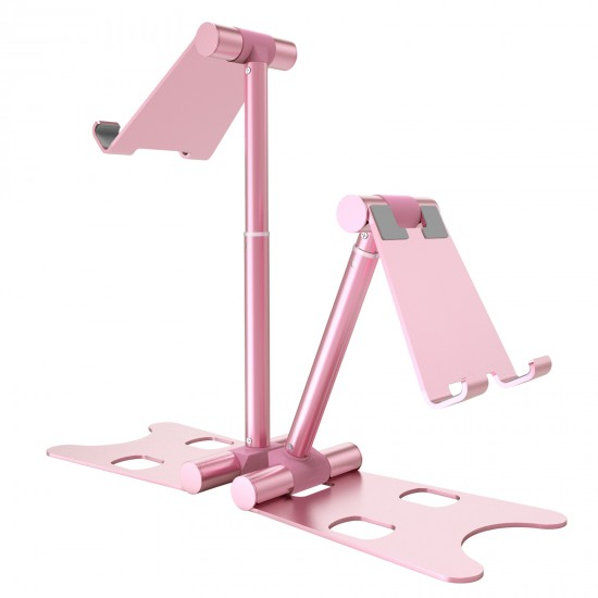 Callancity Adjustable Cell Phone Stand Phone Desk Holder, Cradle, Dock, Mobile Smartphone Stand, iPad Stand Compatible with iPhone All Series, Android Phone Desktop Accessories