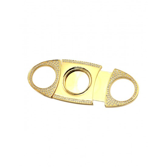 Cigar Cutter With Diamond Plated 24kt Gold