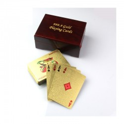 Luxury Playing Cards Poker Customized Gifts With 999.9 Gold