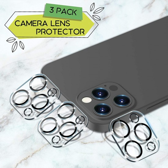 """Camera Lens Protector Compatible with iPhone 12 Pro Max 6.7"""" Tempered Glass,[Case Friendly][New version][Scratch-Resistant][Easy Installation]"""