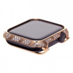 40mm 44mm diamond Case for Apple Watch, Bling Frame Protective Case Screen Protector Series 6/5/4