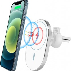 Magnetic Car Air Vent Mount Wireless Charger Phone Holder