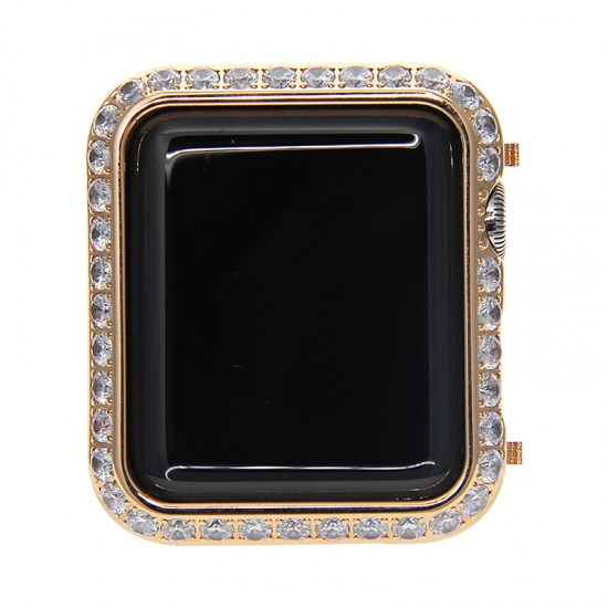 40mm 44mm Diamond Smart Watch Bezel Case Series4 /5 Protective Frame For Apple Watch
