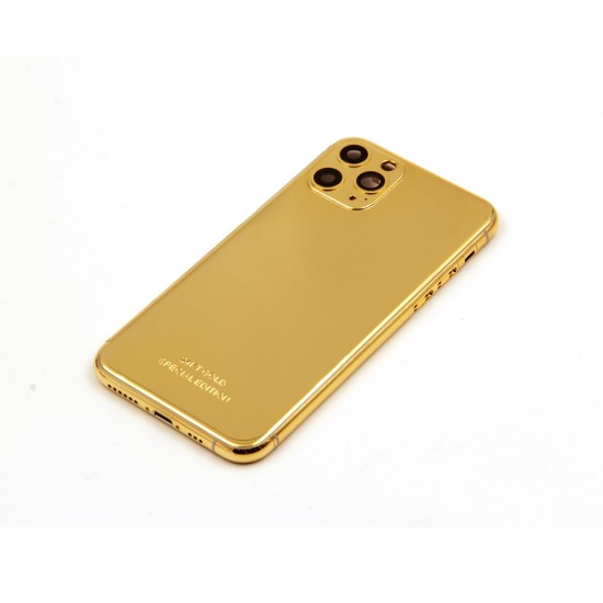 iPhone 12 Pro Max Gold Plated Customized Design Housing