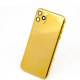 For iPhone 11 Pro Max 24K Gold Plated Housing Replacement Cover for Apple Phone Back Cover Luxury Unique Customized Design