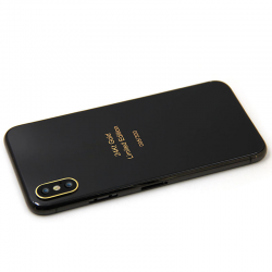 Custom Gold Design for iPhone X/XS/XS Max Housing Wireless Charger Black Back Glass