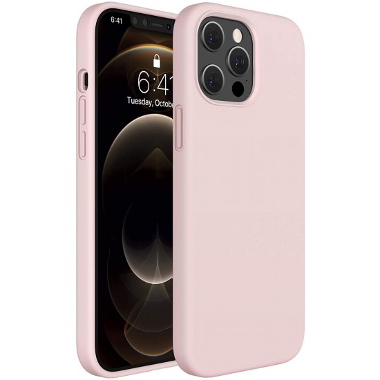 Liquid Silicone Case Gel Rubber Full Body Protection Shockproof Drop Protection Case  Compatible for iPhone 12 Pro/12 Pro Max