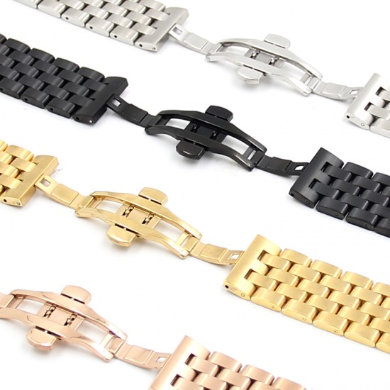 For iWatch Stainless Steel Metal Strap Band With Adapter Adjustable Strap for Apple Watch 38mm 40mm 42mm 44mm