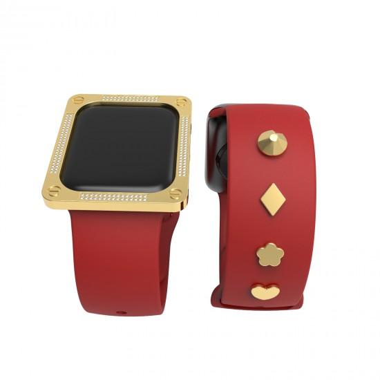 Apple watch GIFT set watch band decoration and apple watch bezel