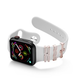 Valentine's Day Gift For Apple Watch Band 38mm 40mm 42mm 44mm Strap Ornament Sparkling Rings With Cross Design With/Without Diamonds for Iwatch Series 3/4/5/6/Se