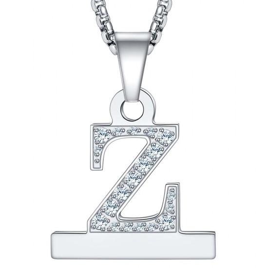 2 in 1 Alphabet Letter A-Z Necklace Pendant Connector for Apple Watch Series 6/SE/5/4/3
