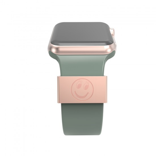 Smart watch band decorative ring loops luxury silicone strap charms for apple watch 38mm 40mm 42mm 44mm