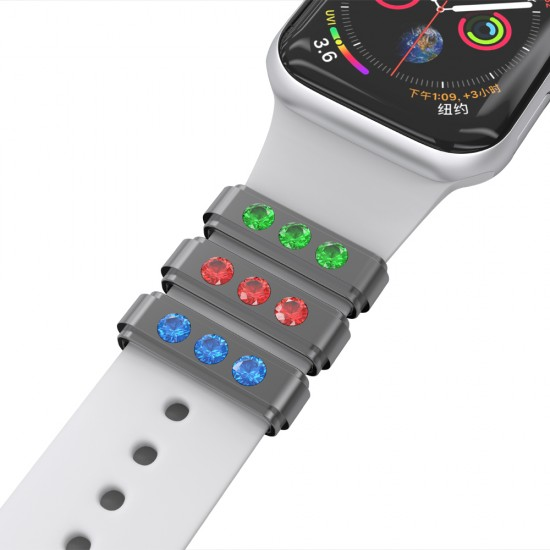 Metal watch band accessories/decorative silicone smart watch band/Jewelry decorations/iwatch band charm for 38mm 40mm 42mm 44mm watch strap