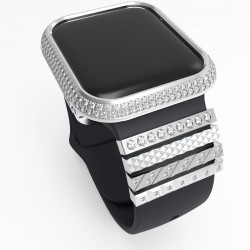Diamond apple Watch bezel case Frame Valentine's Day Gift Protective Case With Jewelry Strap Ring for Apple Watch 38mm 42mm 40mm 44mm