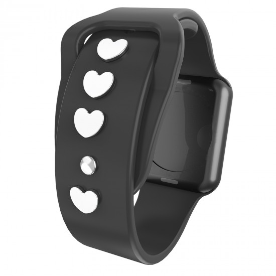 Watch Band Heart Studs Charms for Apple Wacth Series SE/6/5/4