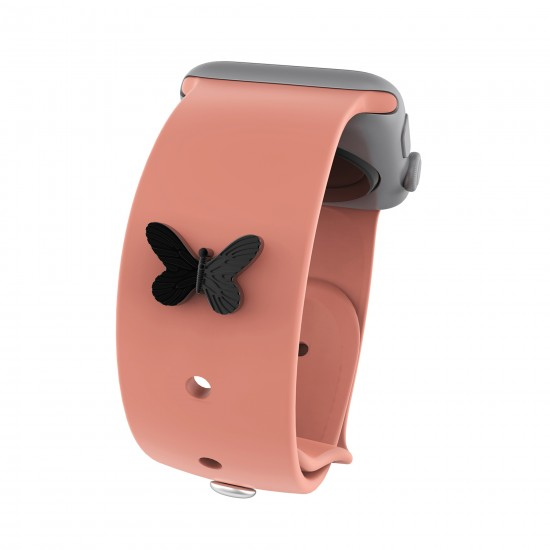 Band Decorative Stud Charms Rubber Watch Strap Stud Smart Watch Band Accessory For Apple Watch  Band 38mm 40mm 42mm 44mm